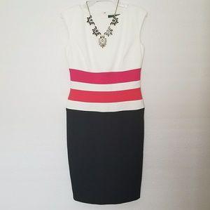 Ralph Lauren Color Block Sleeveless Fitted Dress